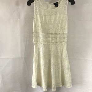 Rue 21 White See Threw Middle Tank Dress Size M